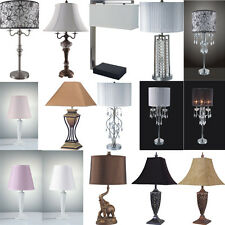 Modern Antique Chrome Crystal Vintage Bright Room Lighting Fixtures Table Lamps
