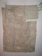 Lee Jofa G P J Baker fabric remnant for crafts embroidered linen Dulcie oatmeal