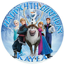 Frozen Personalised Edible Image REAL Icing Cake Topper mutliple sizes