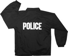 Black Tactical Police Law Enforcement Coaches Lightweight Jacket