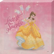 New Disney Princess Love to Sparkle Beauty and the Beast Belle Canvas Print
