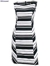 Sheath dress Dress by DANIEL HECHTER Paris black-white stripes Size 38 NEW