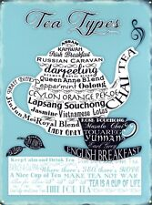 New Contemporary Art The Many Different Types of Tea Metal Tin Sign