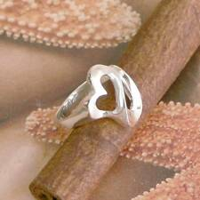 STERLING SILVER HEART RING SOLID .925 /NEW SIZE J-Y JEWELLERY