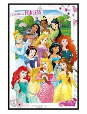 Disney Gloss Black Framed I Am A Princess Maxi Poster 61x91.5cm