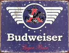 New Budweiser 1936 Logo Metal Tin Sign