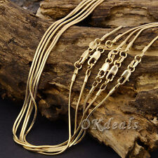 2mm Snake Chain 18K Yellow Gold Plated Snake Chain Pendant Necklace Jewelry