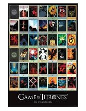 Game of Thrones Gloss Black Framed Episodes GoT Maxi Poster 61x91.5cm