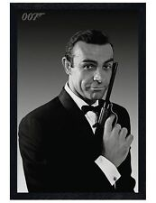 James Bond Black Wooden Framed Sean Connery is 007 Maxi Poster 61x91.5cm