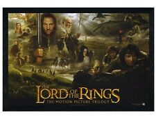 Lord of the Rings Black Wooden Framed Trilogy LOTR Poster 91.5x61cm