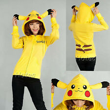 Pikachu Women Fashion Hoodie Sweatshirt Casual Hooded Coat Jacket Hoodies