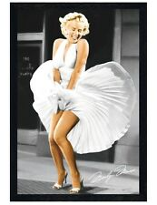 Marilyn Monroe Black Wooden Framed Seven Year Itch Maxi Poster 61x91.5cm