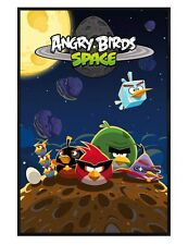 Angry Birds Gloss Black Framed Space Maxi Poster 61x91.5cm