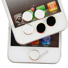 Metal Aluminium Round  Home Button Sticker for iPhone 4S 5 iPod Touch iPad ACTPL