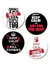 New Keep Calm Zombies Coasters - 4 Pack