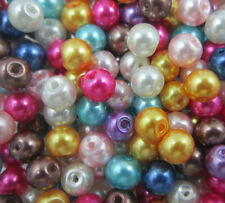 Mixed Glass Pearl Round Spacer Loose Beads Jewelry Finding 4/6/8/10/12mm DIY