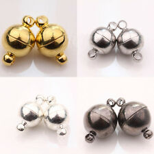 Wholesale Silver/Gold Plated Round Strong Magnetic Clasps Hooks Jewelry Finding
