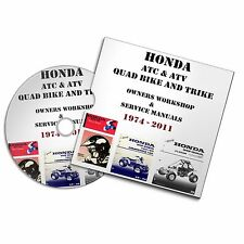 HONDA MOTORCYCLE ATC & ATV QUAD  TRIKE OWNERS AND REPAIR SERVICE MANUAL
