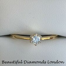 Engagement solitaire 18ct gold single stone diamond ring 25pts 1/4 carat RRP£675