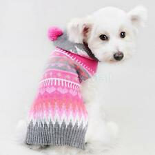 Pet Dog Colorful Hoodie Sweater Pullover Jumper Coat Clothes Apparel Size XXS-L