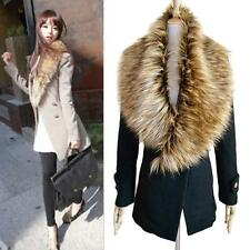Fashion Women Faux Fur Collar Scarf Winter Warm Neck Shawl Wrap Stole Scarves