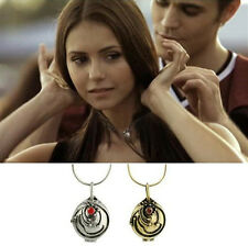 The Vampire Diaries Elena's Vervain Antique Locket Pendant Vintage Necklace Nice