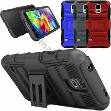 Dual Layer Holster Case Cover Kick Stand For Apple iPhone 6,5S,5,4 Samsung S5,S3