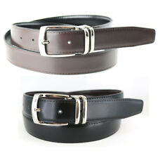 "MEN'S REVERSIBLE BLACK/BROWN LEATHER BELT SIZES: 32""- 54"" BIG AND TALL NWT"