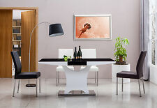 Brand new 7 pieces modern dining table EVA with 6 leather chairs