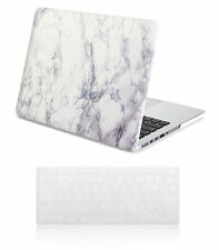 GMYLE Hard Case Print Frosted-White Marble Pattern Cover For macbook Pro Air