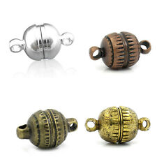 "10 Sets Semicircle Carved Magnetic Clasps Findings 8mmx14mm( 3/8""x 4/8"") M1467"