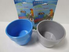 4 x Rabbit guinea pig easy lock water plastic hutch bowl coop cup dish small