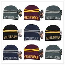 Men Boys Harry Potter Hufflepuff Slytherin Gryffindor Ravenclaw Knit Hat Cap JJ