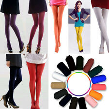 Women Girls Sexy 2 Styles Opaque Footed Nylon Solid  Pantyhose Stockings Tights