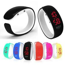 New Women Bracelet Watch Plastic Date LED Digital Watch Sports Wrist Watch Reloj