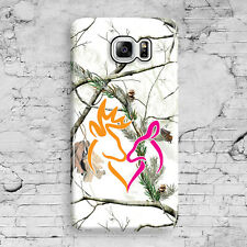 Deer Head Camo Snow White Pink Love Galaxy Note 3,4,5 Clip Case Cover