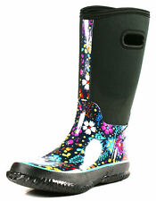 New Neoprene Boots Women Rubber Womens Rain S Waterproof Black Flat Wellies Size