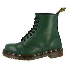 DR DOC MARTENS 1460 BOOTS 8-LOCH LEATHER BOOTS SHOES GREEN SMOOTH 10072310