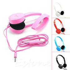 STEREO HEADPHONE DJ STYLE FOLDABLE HEADSET EARPHONE OVER EAR MP3 4 IPOD 3.5MM
