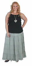 New Plus Size Silver Grey Cotton Tiered Skirt 18, 20 22 24 26 28 Cotton Lined
