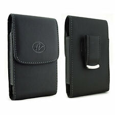 For ZTE Cell Phones Vertical Leather Belt Clip Case Pouch Cover Holster