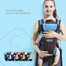 Baby Carrier Adjustable 4 Positions Infant Newborn Wrap Sling Backpack Pouch