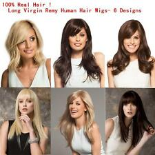 Women's Fashion Long Remy Human Hair Full Wigs Wig Natural 17 Style for You