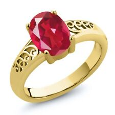 1.80 Ct Oval Last Dance Pink Mystic Quartz 18K Yellow Gold Plated Silver Ring