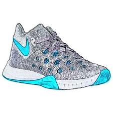 Nike Zoom Hyperquickness 2015 - Men's Basketball Shoes (Wolf GY/BL Lagoon/Cool