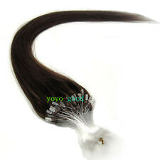 "100S 16""18""20""22""24""26"" Loop Mirco Ring Beads Tipped Remy Human Hair Extensions"