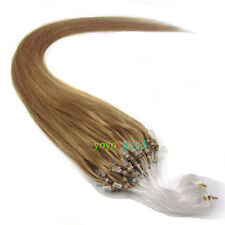 All Size Loop Mirco Ring Real Remy Human Hair Extensions #16 Ash Blonde 100s NEW