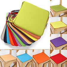 Indoor Dining Garden Square Patio Home Office Chair Seat Pads Cushion Tie Pad