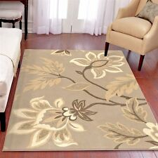 RUGS AREA RUGS CARPET 8X10 AREA RUG MODERN LARGE RUGS FLORAL GRAY RUGS   ~ NEW ~