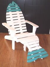 Oversize Poly Fish Adirondack Chair w/Ottoman & End Table - Quality - Amish Made